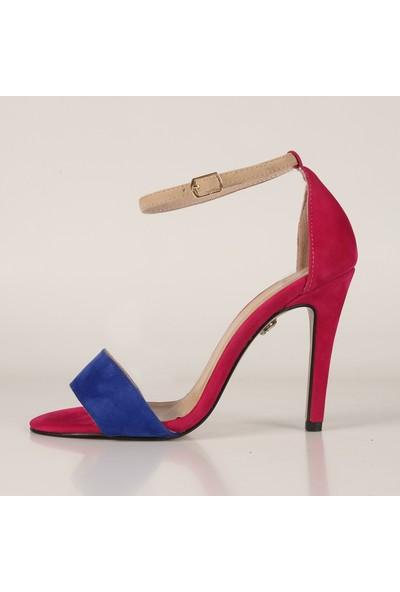 Gökhan Talay Style Fuşya Süet Topuklu Ayakkabı