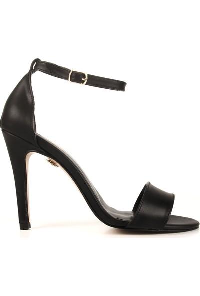 Gökhan Talay Style Siyah Deri Topuklu Ayakkabı