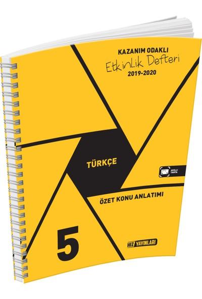 Hız Yayınları 5. Sınıf Türkçe Özet Konu Anlatımlı Etkinlik Kitabı