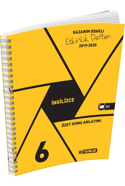 Hız Yayınları 6.Sınıf İngilizce Özet Konu Anlatımlı Etkinlik Kitabı