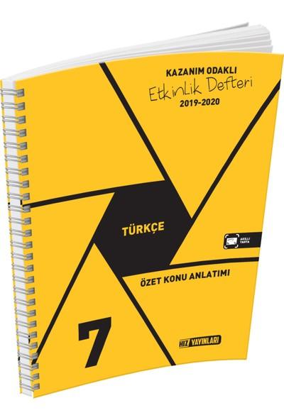 Hız Yayınları 7. Sınıf Türkçe Özet Konu Anlatımlı Etkinlik Kitabı