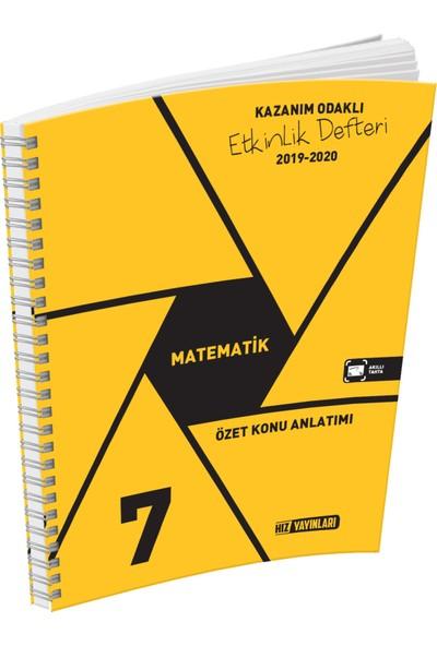 Hız Yayınları 7. Sınıf Matematik Özet Konu Anlatımlı Etkinlik Kitabı