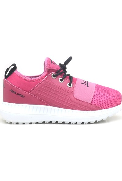 Scorx Pembe Lastikli Kız Çocuk Spor Ayakkabı