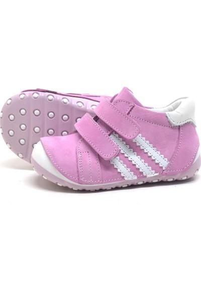 Nino Pembe Hakiki Deri İlk Adım Bebek Ayakkabısı