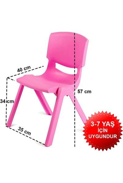 Banadabul Fiore Büyük Şirin Çocuk Sandalyesi Pembe 2li Paket 3-7 Yaş İçin