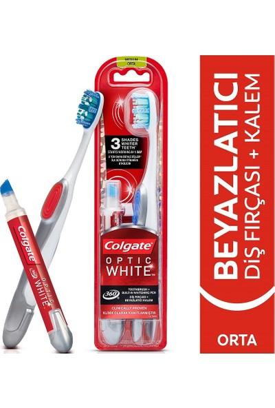 Colgate 360 Optik Beyaz Diş Fırçası + Beyazlatıcı Diş Kalemi