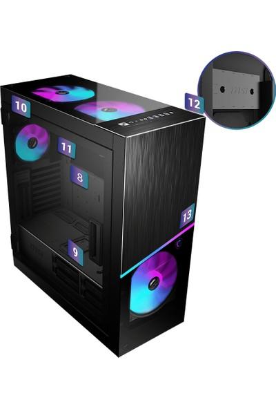 MSI MPG Sekira 500X Temperli Cam 4x A-RGB Fan ATX Oyuncu Bilgisayar Kasası