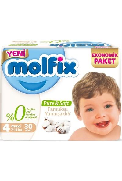 Molfix Pure&soft Ekonomik 4 Beden 7-14KG Maxi 30 Adet Bebek Bezi