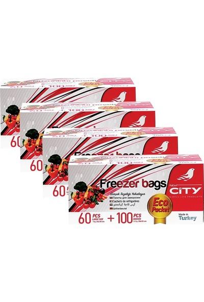 New City Buzdolabı Poşeti Ekonomik Paket 160' lı x 4' lü Set