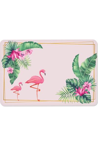 Decorita Tropik Desen Flamingo | Cam Kesme Tahtası | 30 x 40 cm