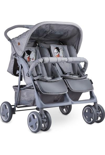 Lorelli Twin Ikiz Bebek Arabası - Grey Cool Cat