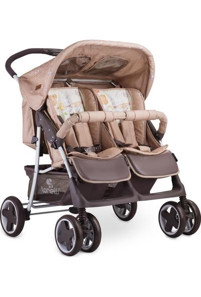 Lorelli Twin Ikiz Bebek Arabası - Beige Bear Party