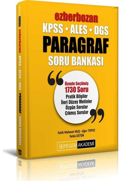 Pegem Akademi KPSS 2021 ALES DGS Ezberbozan Paragraf Soru Bankası