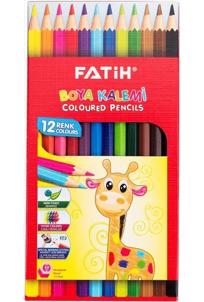 Fatih 12 Renk Tam Boy Kuru Boya Kalemi (33112)