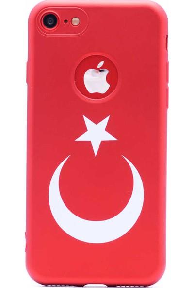 Vendas Apple iPhone 7 Türk Bayrağı Silikon Kılıf