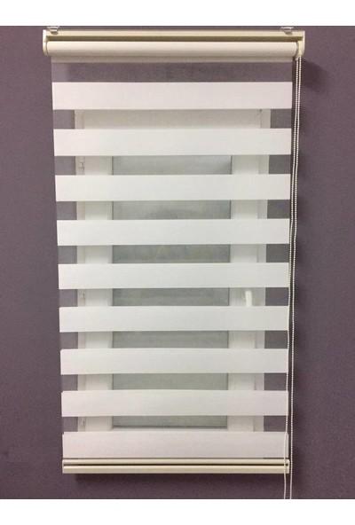 Gusse Moda Bambu Zebra Perde Beyaz