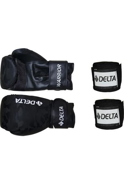 Delta Warrior Kamuflaj Desen Boks Eldiveni + Boks El Bandajı Seti