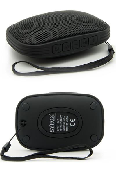 Syrox S13 Suya Dayanaklı Bluetooth Hoparlör - Siyah