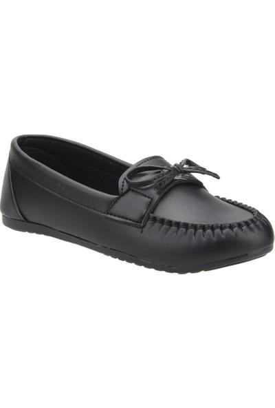Annamaria Bıyıklı Günlük Kadın Babet Ayakkabı Siyah