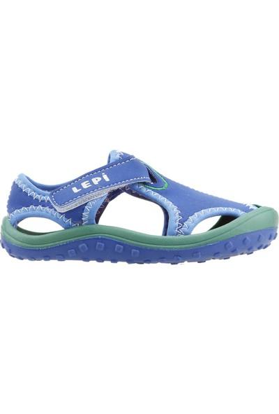 Ayakland Kids Lepi Aqua Kız/Erkek Çocuk Sandalet Deniz Ayakkabı Sax