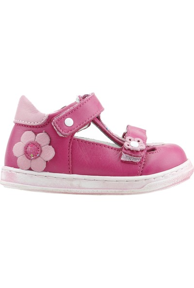 Lepi St00342 %100 Deri Ortopedik Cırtlı Kız Çocuk Ayakkabı Fuşya