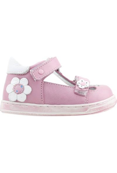 Lepi St00342 %100 Deri Ortopedik Cırtlı Kız Çocuk Ayakkabı Pembe