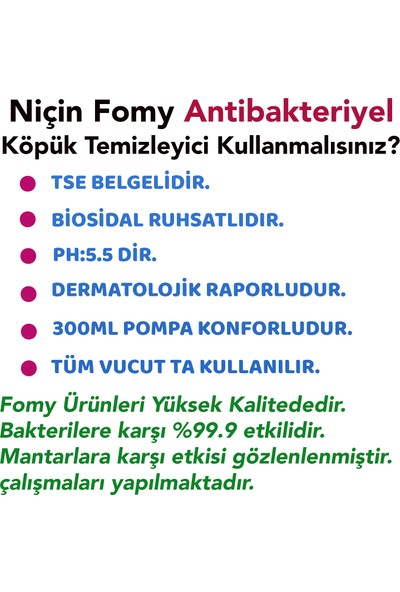 Fomy Antibakteriyel Köpük Sabun 1800 + 300 ml