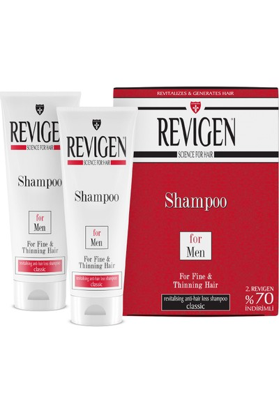 Revigen Şampuan For Men Classic Kofre 300 ml + 300 ml