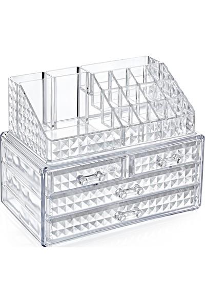 Box Up Diamond Klasik Organizerli 4'lü Çekmece Set