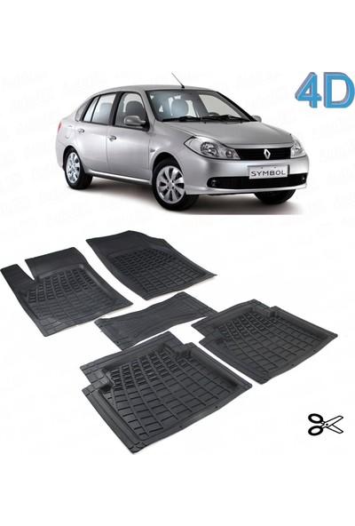 Autoen Renault Symbol 2 (2008 2012) Kesimli 4d Havuzlu Paspas Seti Siyah