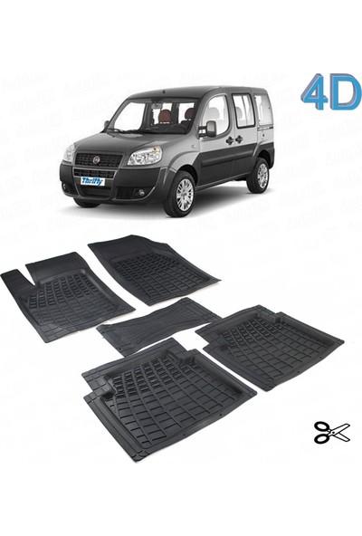 Autoen Fiat Doblo 2001 2010 Kesimli 4d Havuzlu Paspas Seti Siyah