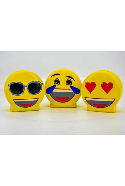 Ikbal Home 3'lü Emoji Porselen Kumbara