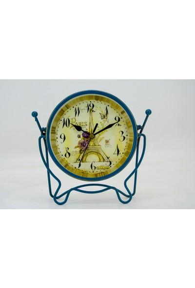 Ikbal Home Metal Masa Üstü Ayaklı Saat