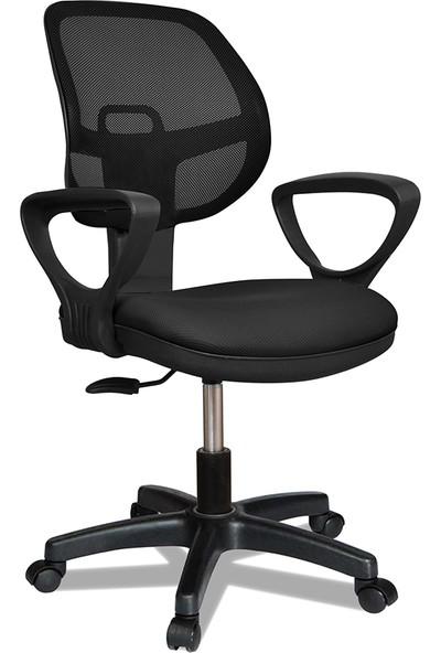 Büromotto Pera Ofis Koltuğu, Bilgisayar ve Çalışma Sandalyesi, Personel Sandalyesi - Siyah