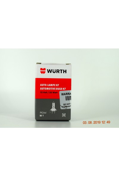 Würth H7 Far Ampülü