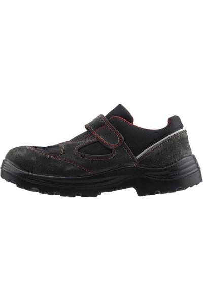 Gezer 1453 Çelik Burun Darbe Iş Güvenliği Erkek Ayakkabı Gri
