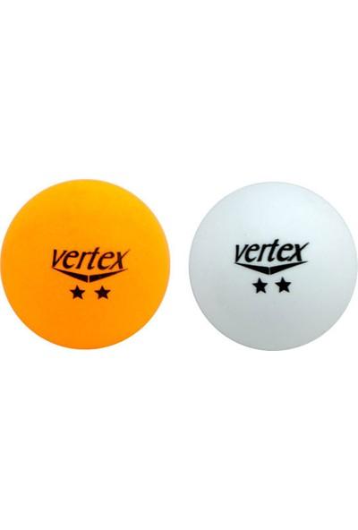 Vertex 2 Yıldız 100'LÜ Masa Tenisi Pinpon Topu Beyaz