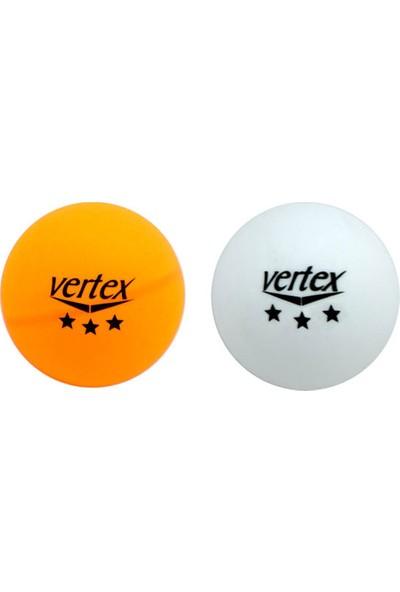 Vertex 3 Yıldız 100'LÜ Masa Tenisi Pinpon Topu Beyaz