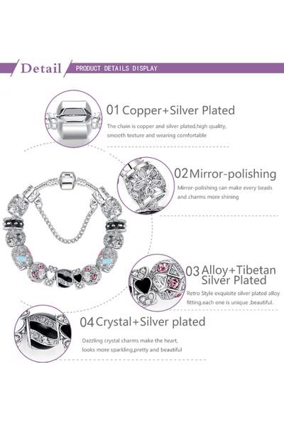 VipBT Lüks Charm Gümüş Bileklik PS3149
