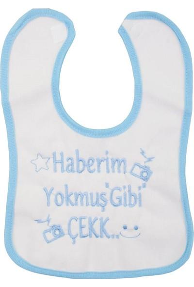 Baby Bibs Yazılı Bebek Önlük Mavi