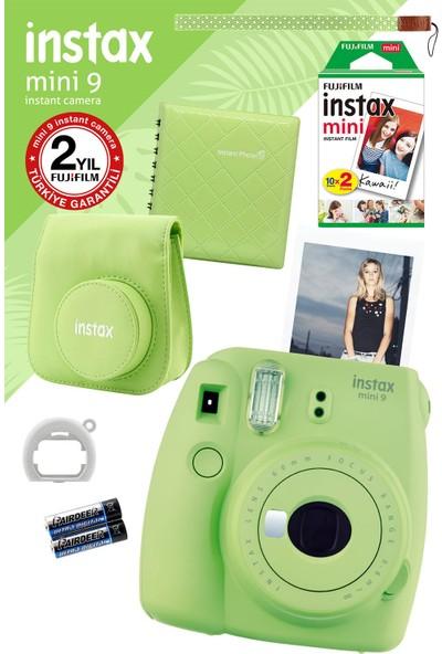 Fujifilm Instax Mini 9 Yeşil Fotoğraf Makinesi ve Hediye Seti