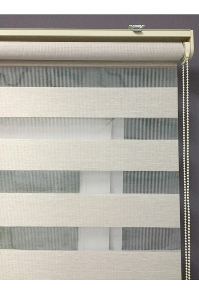 Gusse Moda Bambu Zebra Perde Krem