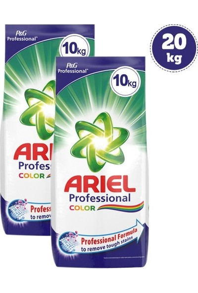 Ariel Parlak Renkler Toz Deterjan 10 kg x 2 Adet