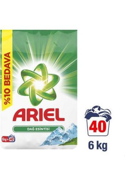 Ariel 6 kg Toz Çamaşır Deterjanı Dağ Esintisi Beyazlar Için