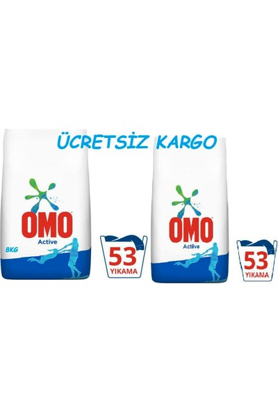 Omo Active 8 kg x 2 Adet