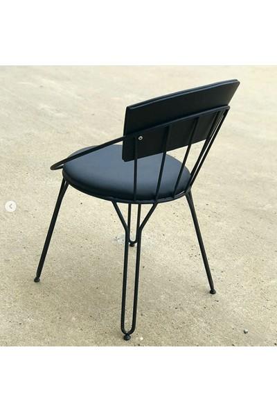 Deri Oval Tel Sandalye