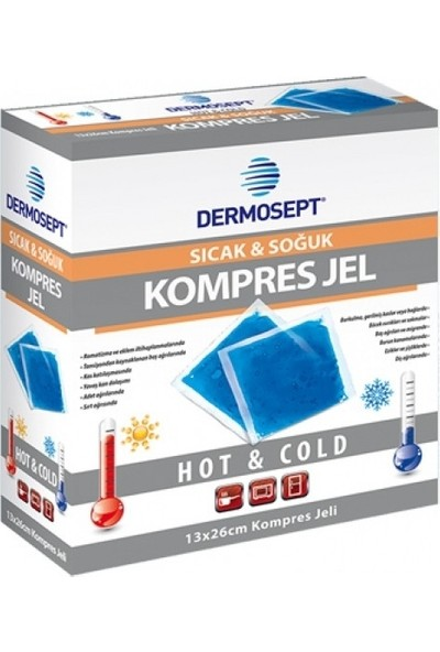 Dermosept Sıcak Soğuk Termo Jel Kompres Jel Termojel 13 x 27