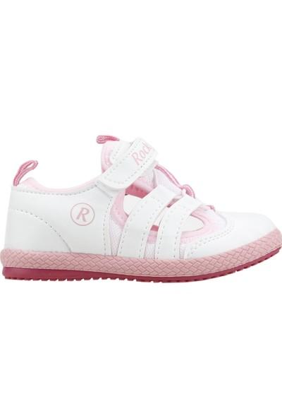 Kiko Kids Rocky Günlük Yürüyüş Koşu Kız Çocuk Spor Ayakkabı Beyaz