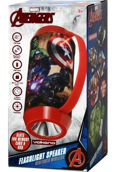 Volkano Marvel Avengers Bluetooth Kablosuz Hoparlör El Feneri Radyolu Lisanslı MV-1013-AV