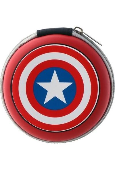 Volkano Marvel Avengers Kaptan Amerika Captain America Kulakiçi Kulaklık Çantalı Lisanslı MV-1008-CA